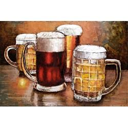 Les chopes de bierre 40x60