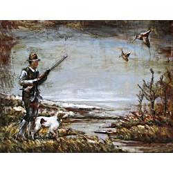 La chasse aux canards 60x80