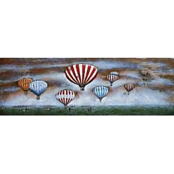 En vol les montgolfieres 60x180