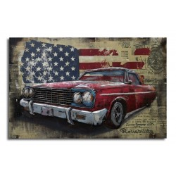 Tableau métal American dream 80x120 EN RELIEF