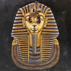 Tableau métal Pharaon 60x60 EN RELIEF