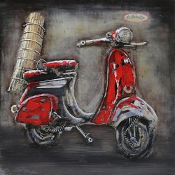 Scooter rouge 60x60
