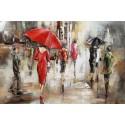 Foule et parapluies 2 30x90