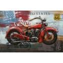 Tableau métal Harley rouge 80x120