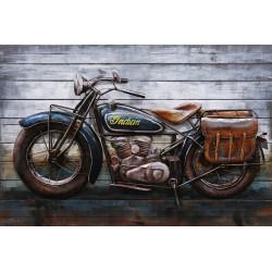 Tableau métal Moto Indian 80x120 EN RELIEF