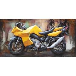 Moto jaune 40x80