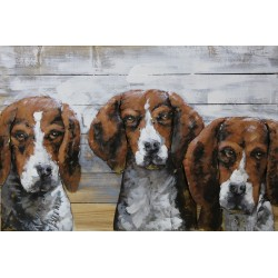 Les 3 chiens 50x75