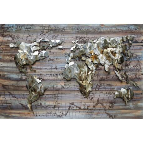 La carte du monde 80x120