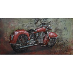 Moto rouge 100x50