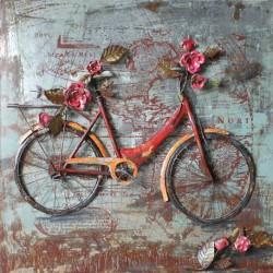 Vélo fleuri 80x80