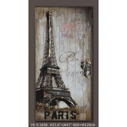 Paris in fog 60x120