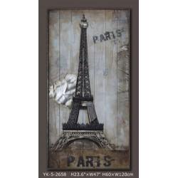 Tableau métal La Tour Eiffel 60x120 EN RELIEF