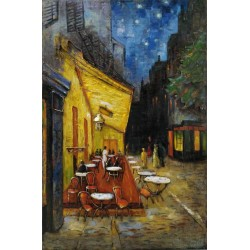Tableau métal Van Gogh 80x120 EN RELIEF