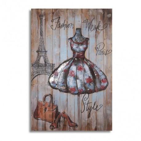 Mannequin couture sur pied 60x90 FOND BOIS