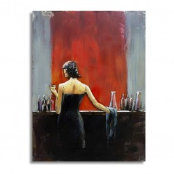 Lady at the bar at the bar 60x80