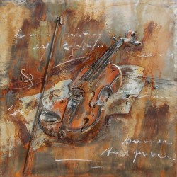 Le violon et l'archet 40x40