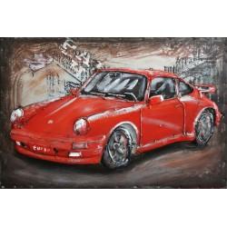 Porsche 911 rouge 60x80