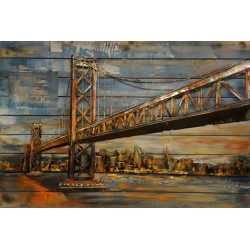 Tableau métal Pont de Brooklin 80x120
