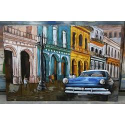 Tableau métal Havana car 80x120 EN RELIEF