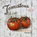 Tableau métal Les tomates 60x60 EN RELIEF