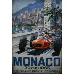 Tableau métal 2 Grand Prix Monaco 80x120 EN RELIEF