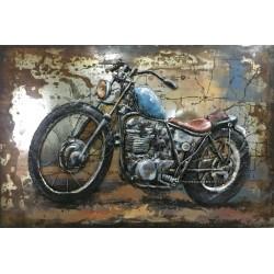 Tableau métal Moto 40X60 EN RELIEF