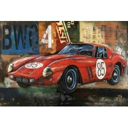 Tableau métal Ferrari 80x120 EN RELIEF