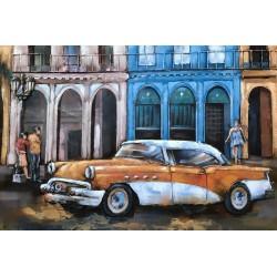 Tableau métal La Havane 40x60 EN RELIEF