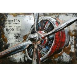 Tableau métal Hélice 80x120 EN RELIEF