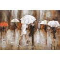 Parapluies blancs 80x120