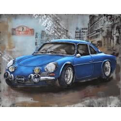 Porsche bleue 40x60