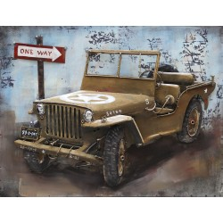 Tableau métal Jeep 40x60 EN RELIEF
