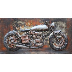 Tableau métal Gold Bike 40x80 EN RELIEF