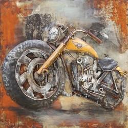 Harley jaune 60x60