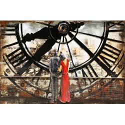 Tableau métal Amour intemporel 80x120 EN RELIEF