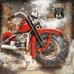 Moto rouge 60x60