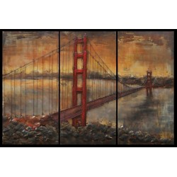 Golden bridge triptyque 180x120