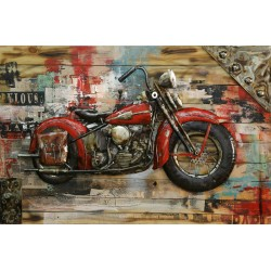 Red motorbike 80x120