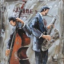Tableau métal Duo Jazz 60x60