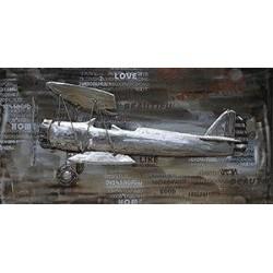 Tableau métal Stearman 60x120 EN RELIEF