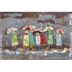 Parapluies Cherbourg sous la neige80x120
