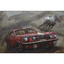 Tableau métal Mustang 3 40x60