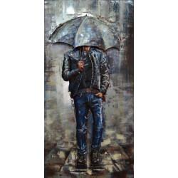 Tableau métal Rain walk 60x120