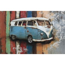Vintage Blue Volkswagen 80x120
