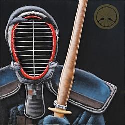 Tableau métal Kendo 60x60 EN RELIEF