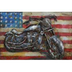 Tableau métal US Bike 40x60 EN RELIEF
