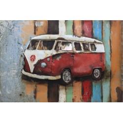 Vintage Red Volkswagen 40x60