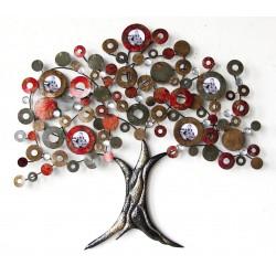 Déco murale 234 Petit arbre rouge