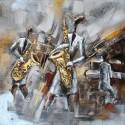 Tableau métal Saxo concerto 60x60