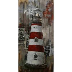 Le phare de Molène 60x120 FOND BOIS
